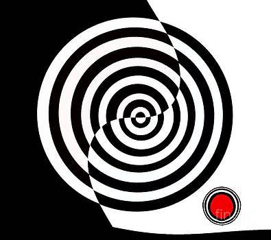 Drinka Mercep - Minimalism Black White Red Art No.136.
