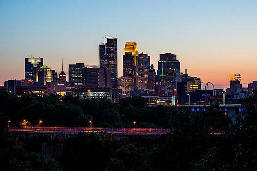 Minneapolis Skyline From UMN II by Christopher Broste