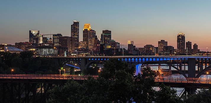 Minneapolis Skyline Panorama from UMN by Christopher Broste