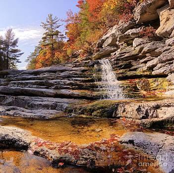Minnewaska Park Falls in Autumn Season by Daniel Portalatin
