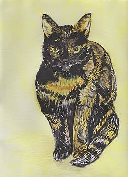 Minxy - The Mischievous Cat by Moya Moon