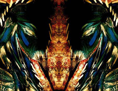 Mirrored Blue Heron Woman by Jeannine Sandoval