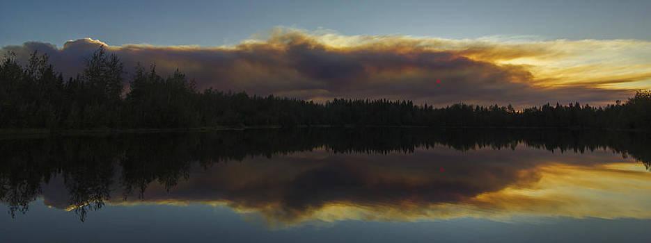 Mirrored Golden Smoke by Jesse Attanasio