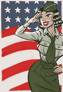Miss Olive Pinup by O Foley