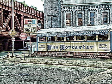 Miss Worcester Diner Worcester Massachusetts by Mike McCool