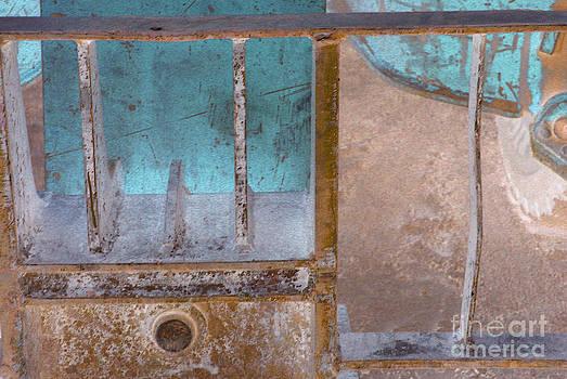 Heather Kirk - Missing Middle Bar Left H Blue Violet Rust