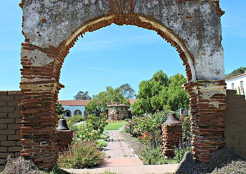 Old Mission San Luis Rey Archway by Murad Abel