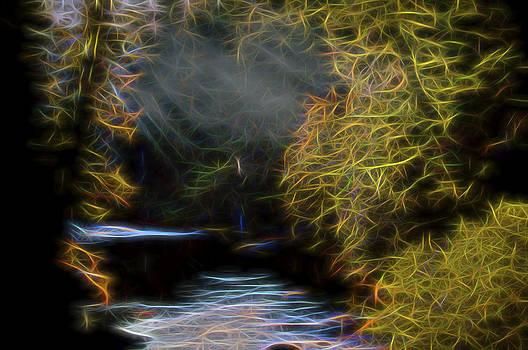 Mist on Forest Stream by William Horden