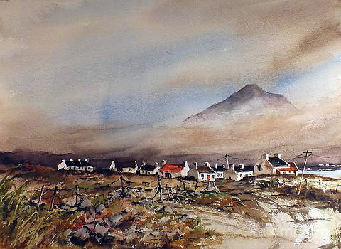 Val Byrne - Mist over Dugort Achill Island Mayo