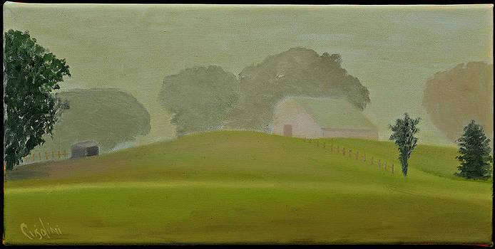 Misty Barn by Gloria Cigolini-DePietro