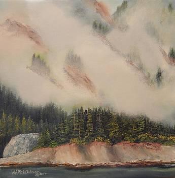 Misty Cliffs at Fords Terror Alaska by William McCutcheon