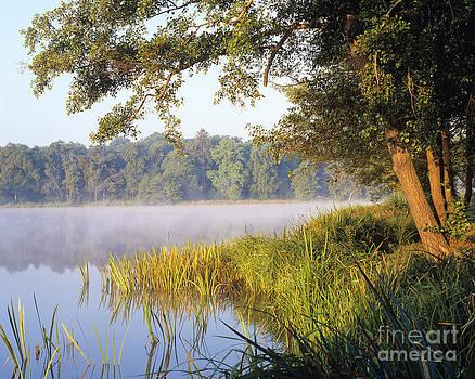 Misty Lake by Derek Croucher