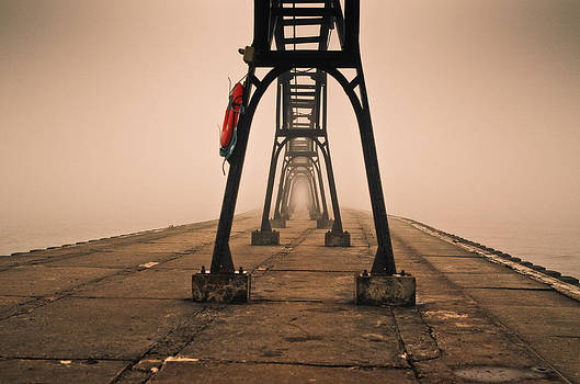 Misty Pier by Jason Naudi Photography