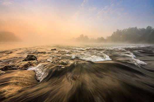 Misty Sunrise by Davorin Mance