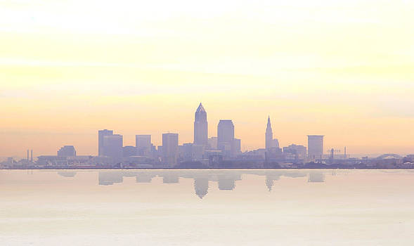 Misty sunrise in Cleveland by Kitty Ellis
