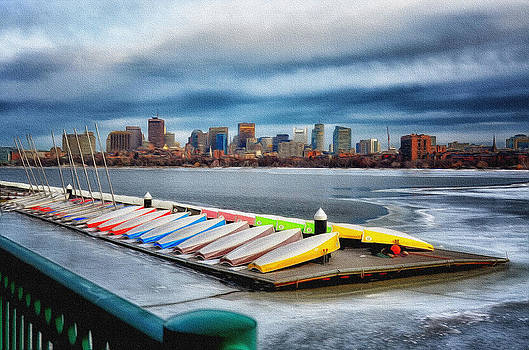 MIT Boats on the Charles by Tricia Marchlik