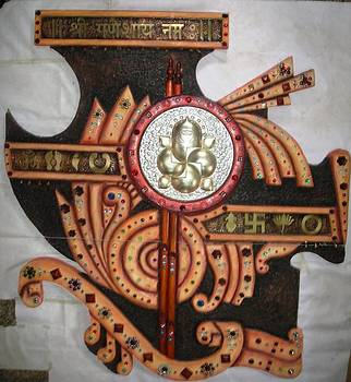 Mixed Media Siporex carving  by Artist Nandakumar Chinchkar