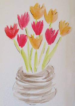 Mixed Tulips by Cindy Lawson-Kester