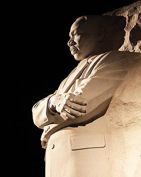 MLK memorial at Night by Brian M Lumley