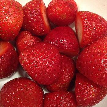 Mmmm California Strawberries While by Maureen Bates