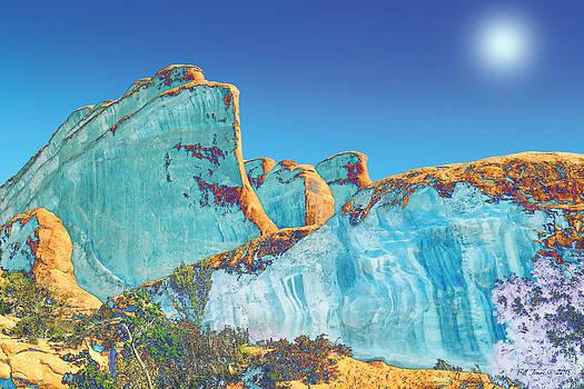 Moab in Blue by Bill Jonas
