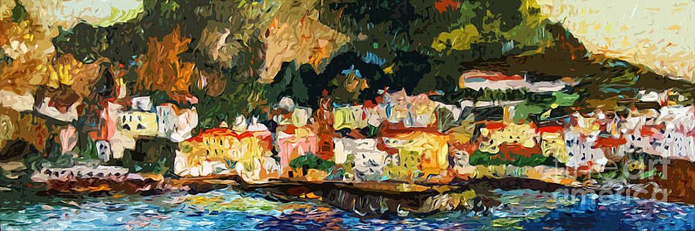 Ginette Callaway - Modern Amalfi Panoramic Cityscape