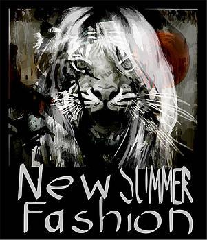 Modern art Lion poster by Tolga Ozcelik