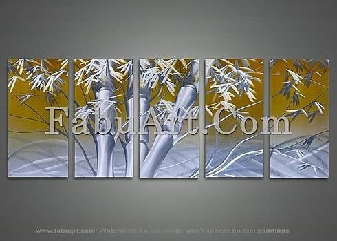 Modern Bamboo Art Painting by FabuArt