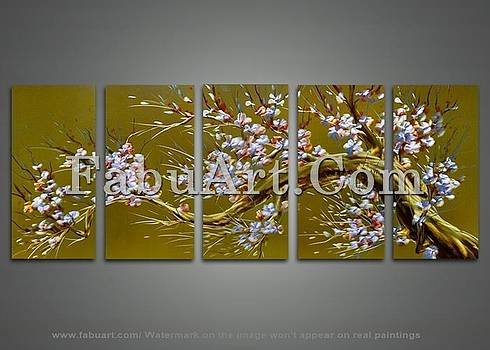 Modern Brown Tree Painting by FabuArt