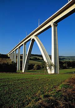 Modern railway viaduct Germany by David Davies