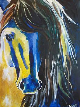 Modern Stallion Abstract by Veronica Silliman