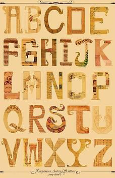 Modern Vintage Alphabet by Jenny Sorge