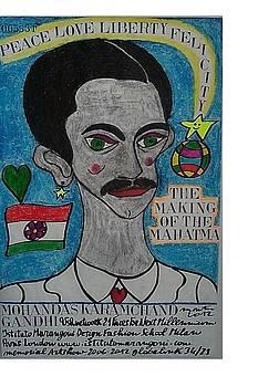 Mohandas Karamchand Gandhi by Francesco Martin