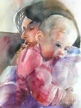 Mommy and Little Girl in Pink by Reveille Kennedy