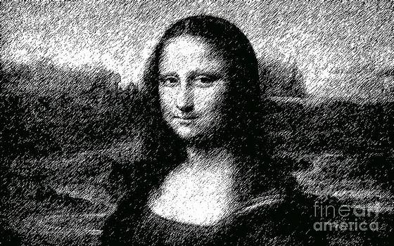 Mona Lisa in Gray scale by Mike Cartwright