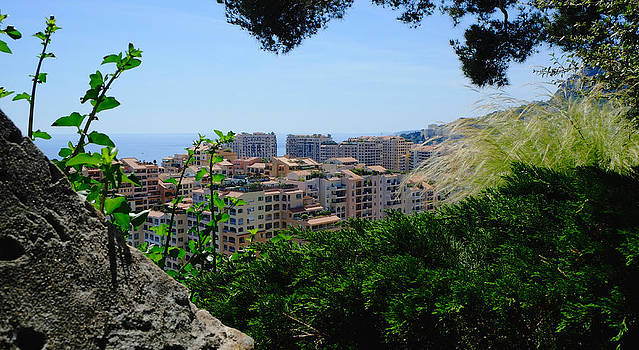 Monaco High Hill View by August Timmermans