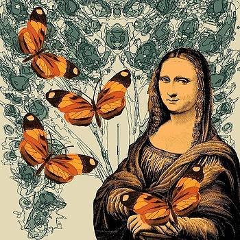 #monalisasmile #monalisa #butterfly by Mary Welsch