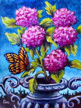 Monarch and Flowers by Sebastian Pierre