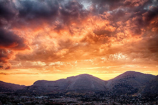Mondello Sunset by Viacheslav Savitskiy