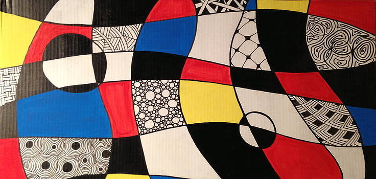 Mondrian Doodle #2 by Max Powers