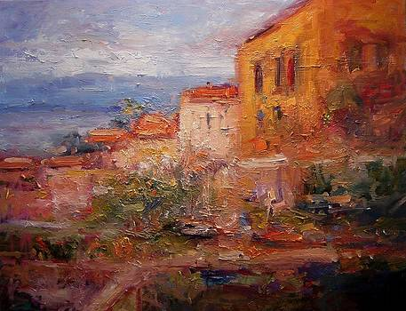 Monemvasia Greece in the afternoon by R W Goetting