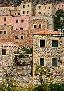 Monemvasia houses by Christos Andronis