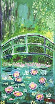 Monet 1899 Bridge over a pool of water lilies by Ethan Altshuler