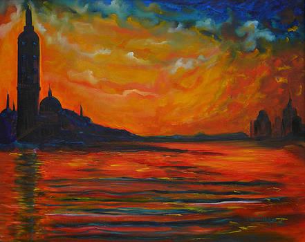 Monet Landscape Study by Ken Caffey