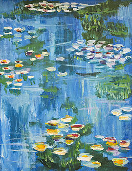 Monet water lilies by Richard Fritz