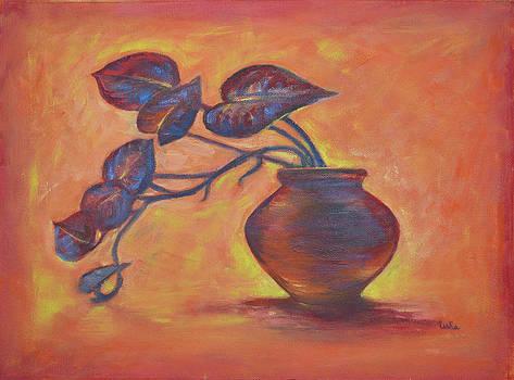 Usha Shantharam - Money Plant Silhouette 1