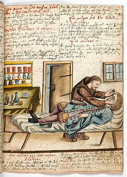Wellcome Images - Monk Performing Eye Operation 1675