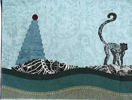 Monkey at Christmas by Glenda Kotchish