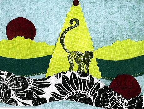 Monkey Moon and Tree by Glenda Kotchish