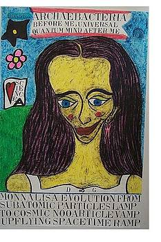 Monna Lisa Evolution From Subatomic Particles Lamp To Cosmic Nooarticle Vamp Upflying Spacetime Ramp by Francesco Martin